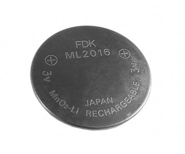 Knopfzellen Akku Batterie ML2016 ML-2016 Lithium Wideraufladbar passt in Solar Casio Uhren Modelle