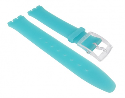 Swatch Uhrenarmband Silikon Band 16mm Türkisblau für Blue Classiness SFK363