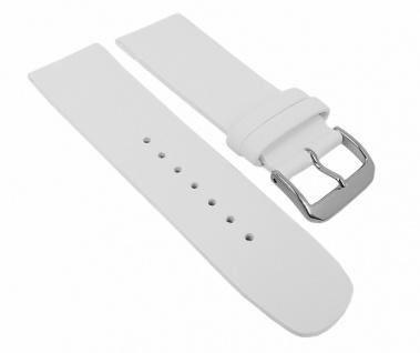 Minott Damen Uhrenarmband Leder Band Weiß 27106S