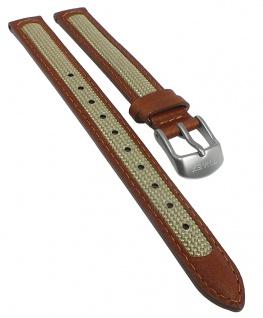 Timex Damen Ersatzband 12mm Leder /Textil braun/beige TW4B11900