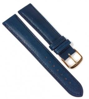 Öko Nappa Uhrenarmband Nappaleder Blau 22353G