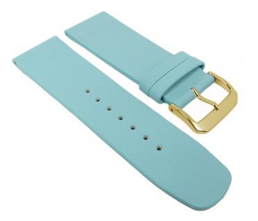 Graf Manufaktur Spree Damen Uhrenarmband Leder Band Hellblau 27101G