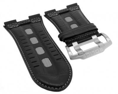 Police Serie Dominator Ersatzband Krokooptik Leder schwarz Breidornschließe 12899XS/02 12899