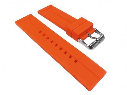 Hugo Boss Uhrenarmband Silikon Band Orange 22mm für 1512665