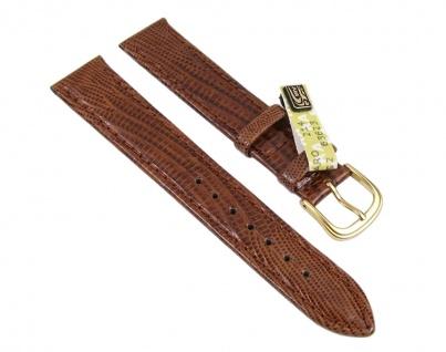 Echt Teju-Eidechse Uhrenarmband Leder braun 18mm 17630G