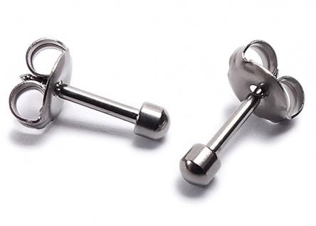 Minott Erstohrstecker Ohrschmuck Ohrringe Ø 2, 8mm Titan 100% Steril 21268T