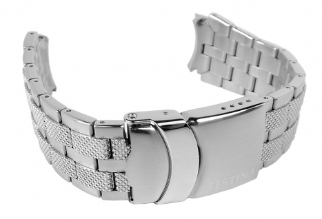 Festina Damen Uhrenarmband Edelstahl Band mattiert silbern für F16389 F16391