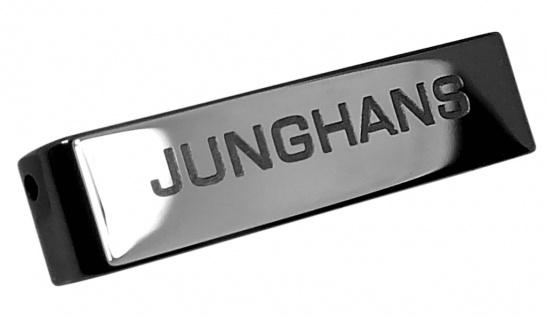 Junghans Force Mega Solar Bandglied schwarz Keramik glänzend 018/1132 018/1133