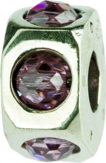 Charlot Borgen Marken Damen Bead Beads Drops Silber mit Zirkonia SCZ-18-Rosa