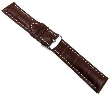 Swiss Chrono II Uhrenarmband Kalbsleder Dunkelbraun 20649S