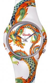 DOODLE WATCH ? Armbanduhr für SIE Ø 39mm | Silikonband > Weiße Drachen > DODR002