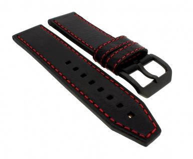 Police Serie Splinter | Ersatzband aus Leder, schwarz mit Dornschließe für Armbanduhr P14688JSBS/04