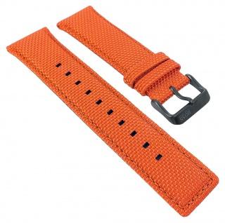 Hugo Boss Uhrenarmband Textil/Leder orange Naht 24mm 30107B