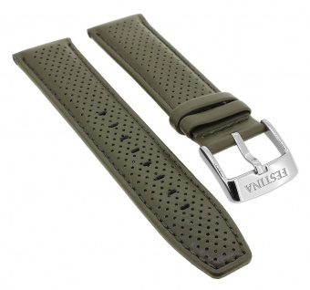 Festina Chronograph Ersatzband 23mm aus Leder in grün mit Lochmuster F20339 F20339/2