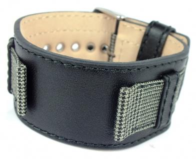 s.Oliver Ersatzband 18mm Leder/ Textil schwarz Unterlageband SO-1883-LQ