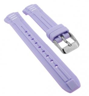 Calypso Ersatzband aus Silikon in lila mit Schließe silberfarben Spezial Anstoß K5757/2