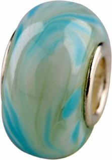 Charlot Borgen Marken Damen Bead Beads Drops Kristallglas Silberkern GPS-21Türkis