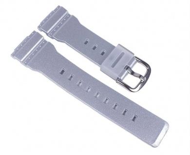 Casio Baby-G Uhrenarmband Resin Band Silberfarben für BA-110