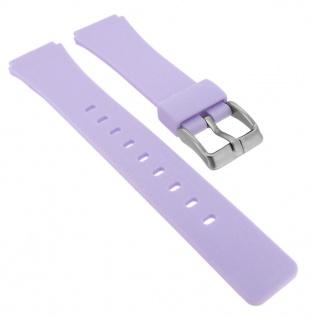 Calypso Ersatzband aus Silikon in lila mit Schließe silberfarben Spezial Anstoß K5743/2