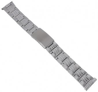Minott Edelstahl Band Uhrenarmband 20mm Herren silberfarben 29762S