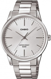 Casio Collection Analoguhr mit Edelstahlband in silbern MTP-1303PD-7FVEF