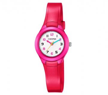 Calypso Kinderarmbanduhr   analoge Quarzuhr aus Kunststoff   Mädchen   rot/pink K5749/3