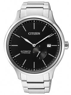 Citizen Automatik   Herrenuhr, analog mit kleiner Sekunde, Titanband / Titangehäuse NJ0090-81E
