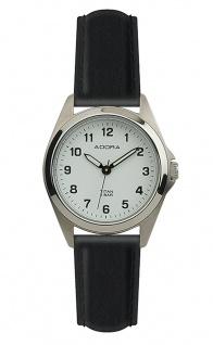 Damen Adora Armbanduhr | Lederband, schwarz | Titangehäuse & Dornschließe | 5 bar > 37845 - Vorschau
