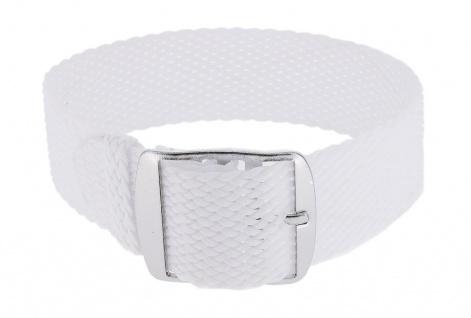 Minott Durchzugsband 14mm weiß geflochten Perlon Textil Dornschließe