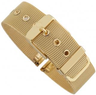 Minott Milanaise | Uhrenarmband Edelstahl Band gelbgoldfarben mit Dornschließe 30552