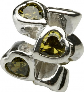 Charlot Borgen Marken Damen Bead Beads Drops Silber mit Zirkonia SCZ-20-Grün