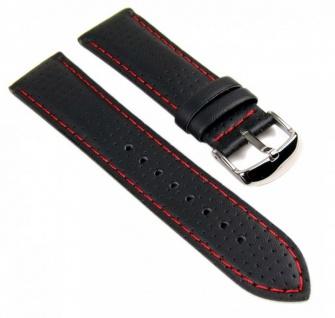 Uhrenarmband Leder Casio Ersatzband Band schwarz 22mm EF-321L-1 EF-321L