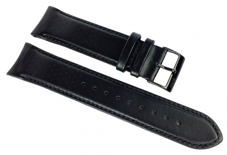 Hugo Boss Grand Prix Ersatzband schwarz 22mm Leder Band Lochmuster 1513550