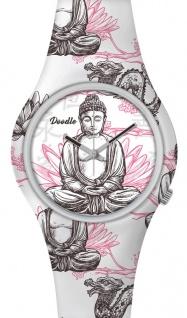 DOODLE WATCH ? Armbanduhr für SIE Ø 39mm | Silikonband > Buddha / Lotus > DOOR001