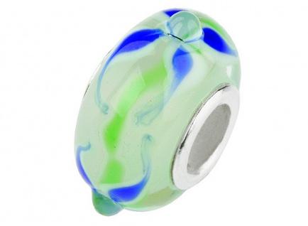 Charlot Borgen Marken Damen Bead Beads Drops Kristallglas Silberkern GPS-48Blau