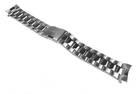 Timex Uhrenarmband Edelstahl Band Silberfarben für T2N515, T2N516, T2N517, T2N518, T2N521