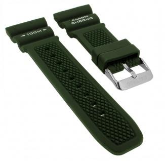 Calypso K5764 Ersatzband Kautschuk grün Spezial Anstoß Schließe silberfarben K5764/5