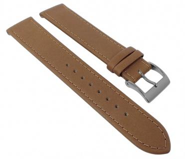 Junghans MAX BILL Uhrenarmband Leder beige 18mm 027/3701