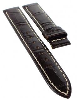 Jaguar Ersatzband 17mm Uhrenarmband Leder Band braun Kroko-Optik Kontrastnaht J624/4 J624