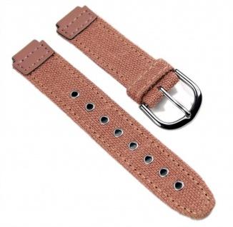 Casio Uhrenarmband Textil / Leder Band Perlrosa für SHN-100B