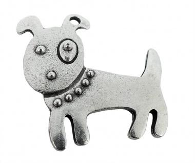 Minott Kette Schmuck Anhänger Hund Messing im Used Look 27958