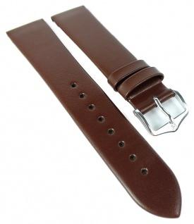 HIRSCH | Uhrenarmband > Leder, braun ohne Naht > Dornschließe | Standard-Länge | 36509