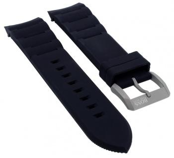 Hugo Boss Neo Chronograph Ersatzband Kautschuk schwarz Dornschließe silbern 119938