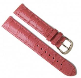 Minott Uhrenarmband Leder Louis-Print Pink 18mm