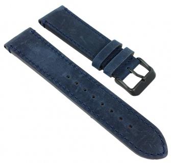 Adora Nautic Farbenspiel Ersatzband 22mm blau Lederband Band AN2138 AN2139