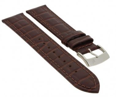 Festina Classic Ersatzband 21mm   Uhrenarmband aus Leder in braun in Kroko-Optik   F16520
