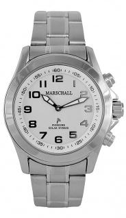 Herren Armbanduhr Marschall | Talking Watch | Edelstahlgehäuse | Sprechende Solar Hybrid Uhr 36891