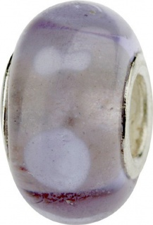 Charlot Borgen Marken Damen Bead Beads Drops Kristallglas Silberkern GPS-23Violett