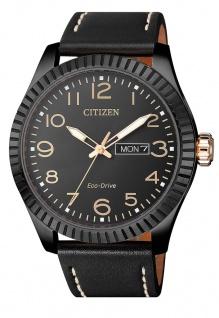 Citizen Armbanduhr | Eco-Drive Solarzelle | Lederband, schwarz | Datumsanzeige > BM8538-10E