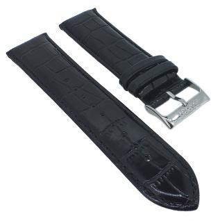 Esprit Ersatzband 22mm Leder schwarz Krokoprägung ES103822002